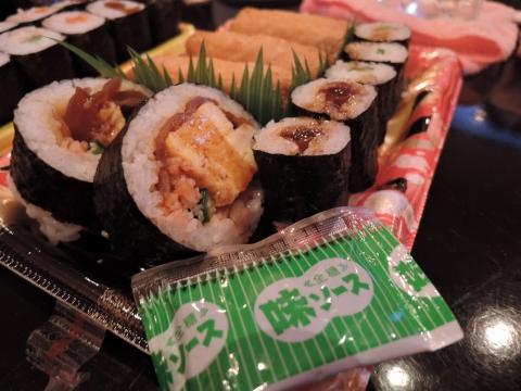 ソース味の寿司