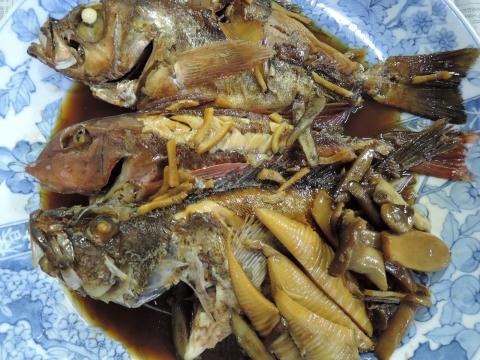 魚の煮付け&鍋パーティー①