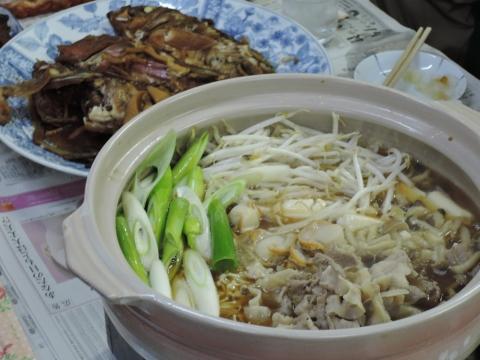 魚の煮付け&鍋パーティー③