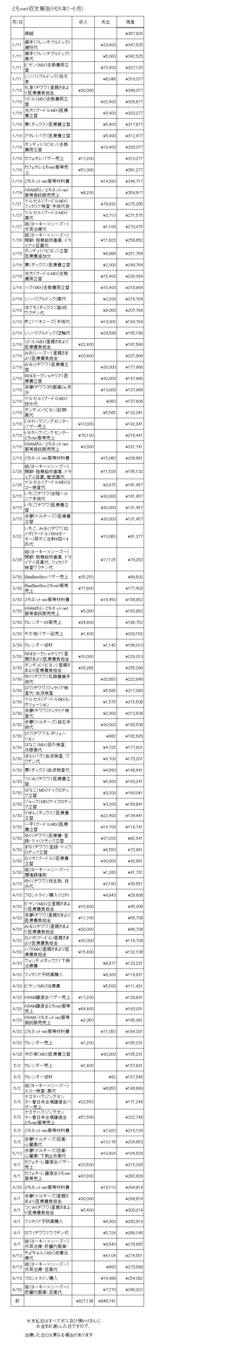 収支報告1-6