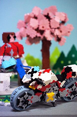 一本桜の丘で