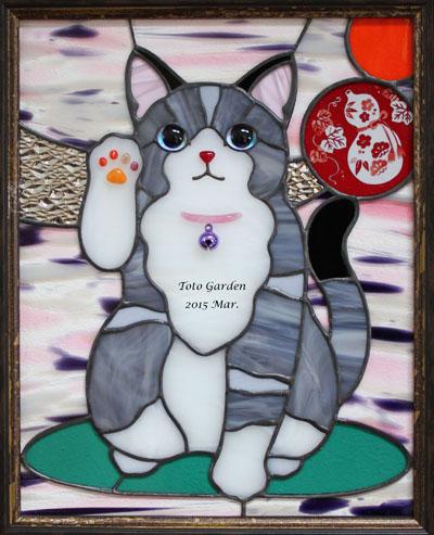 招き猫+ひょうたん(無病息災)