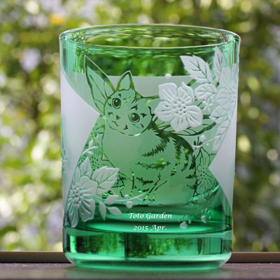 ねこglass_green2