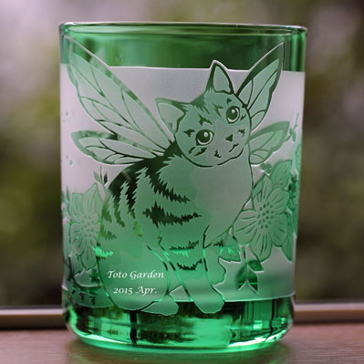 ねこglass_green1