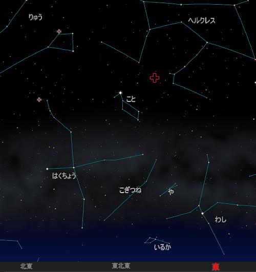 20150423 4月こと座流星群星図