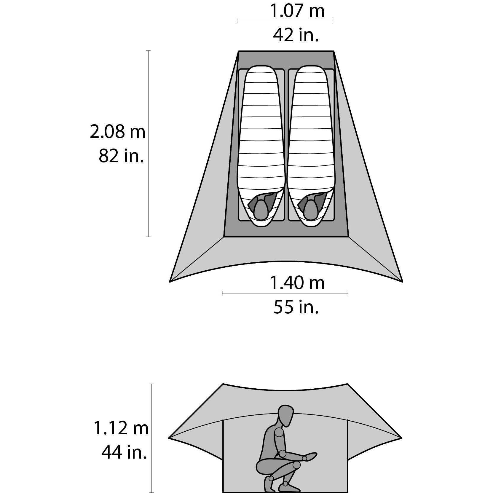 MSR FLYLITE サイズ