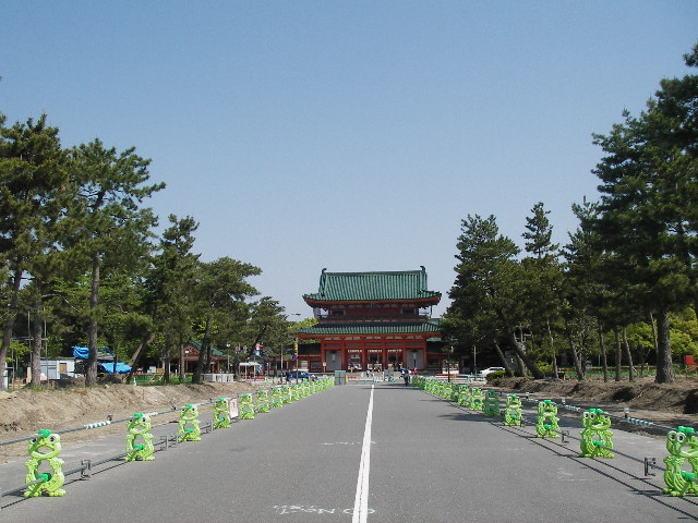 2015平安神宮応天門を望む