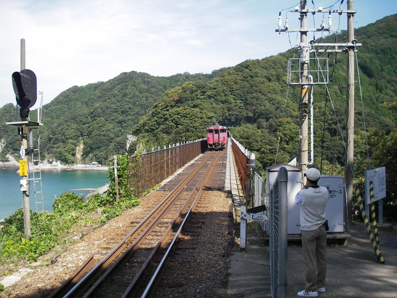 余部鉄橋上2006