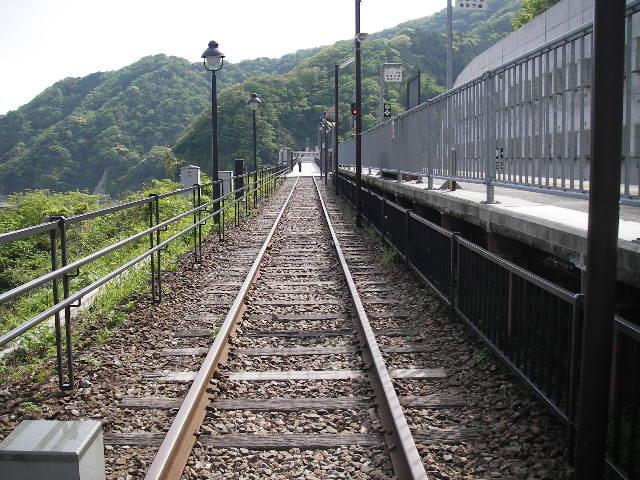 余部鉄橋上2015