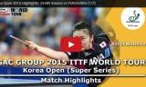 福原愛VSシャン(準決勝)韓国オープン2015