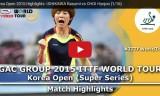石川佳純VSチェヒョジュ(2回戦)韓国オープン2015