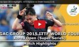 徐孝元VSシャン(準々)韓国オープン2015