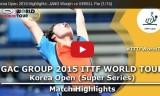 張禹珍VSイェレル(1回戦)韓国オープン2015