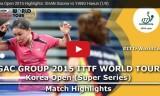 単暁娜VS梁夏銀(2回戦)韓国オープン2015