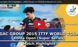 吉田雅己VS張禹珍(準決勝)韓国オープン2015