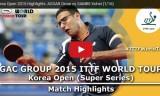 三部航平VSアーサル(1回戦)韓国オープン2015