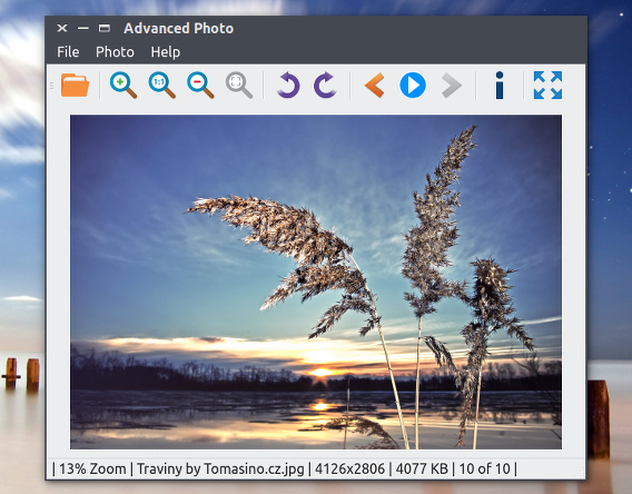 Advanced Photo Ubuntu 画像ビューア