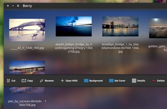 Berry Ubuntu 画像ビューア サムネイルプレビュー