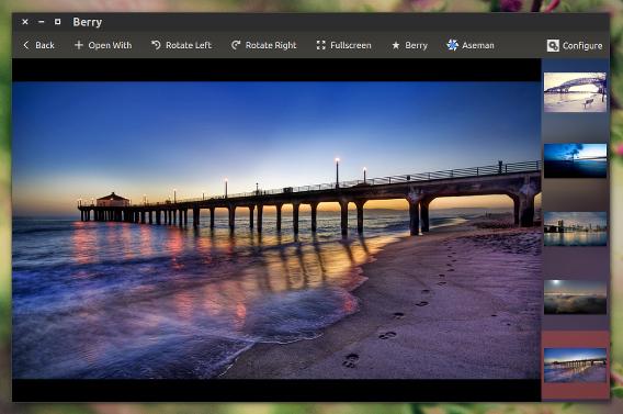 Berry Ubuntu 画像ビューア ファイルを開く