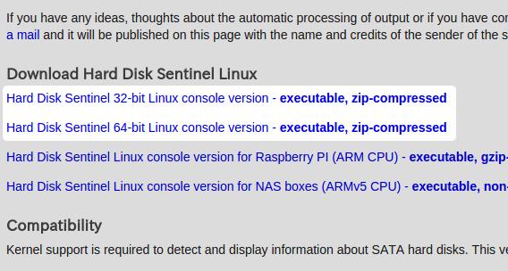 Hard Disk Sentinel Ubuntu ダウンロード
