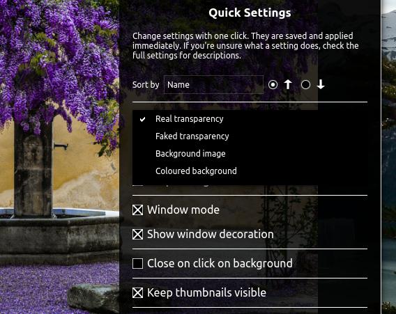 PhotoQt 1.2 Ubuntu 画像ビューア Quick Settings