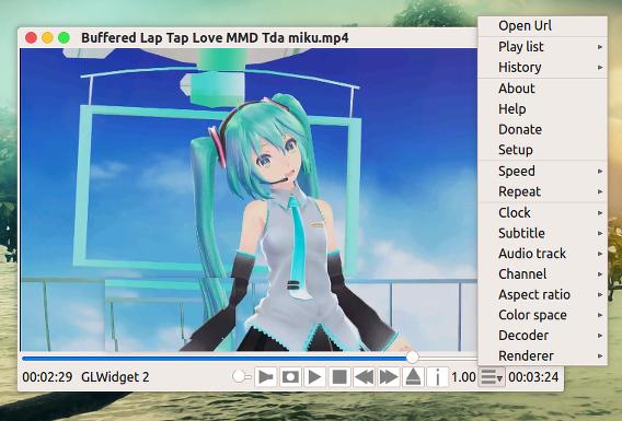 QtAV Ubuntu 動画プレイヤー