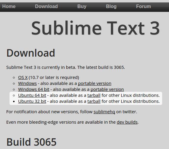 Sublime Text 3 Ubuntu テキストエディタ インストール