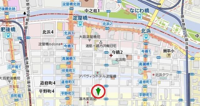 アメニティ淀屋橋ビル地図