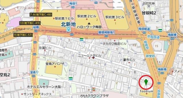 GOTS北新地ビル5号館地図