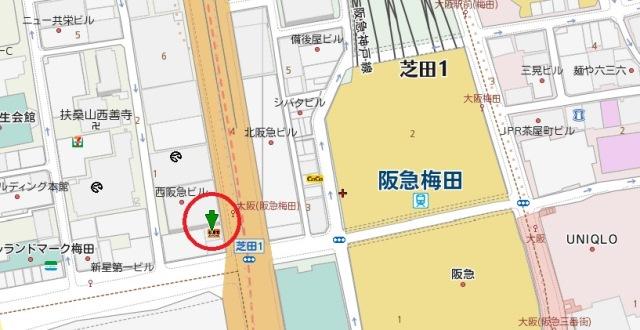大阪高橋ビル地図