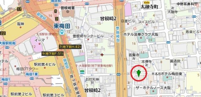 レイソル曽根崎ビル地図