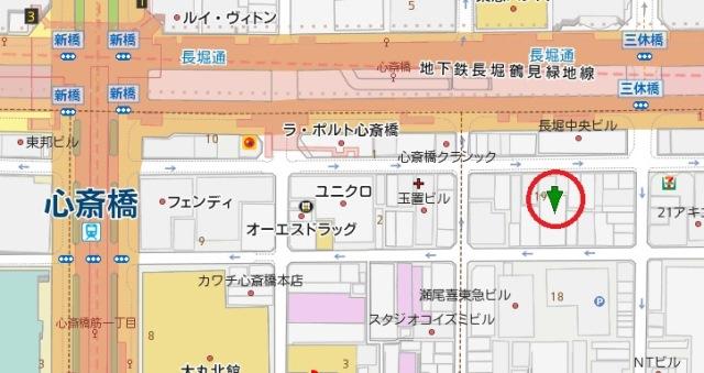 プロムナード心斎橋地図