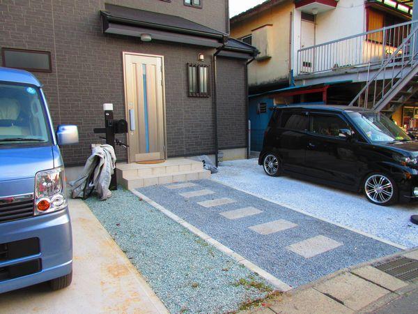 駐車場と玄関前完了