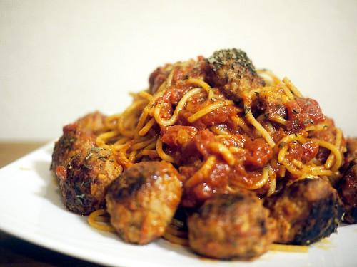 「ホクサイと飯さえあれば」のミートボールスパゲティ