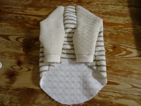 初めての手作りワンコ服