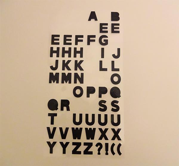 アルファベットシール