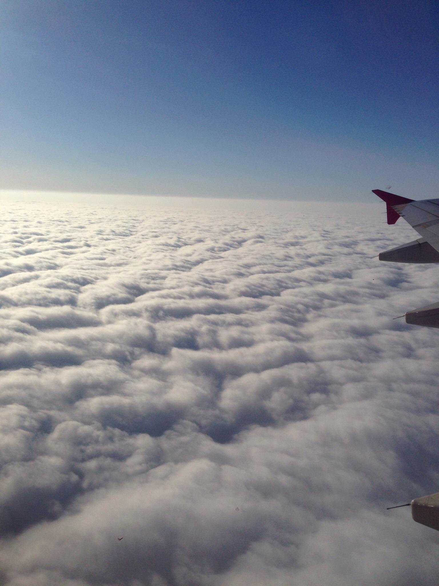 飛行機からの景色は素敵でした