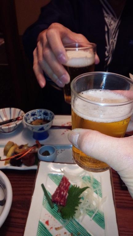 誕生日と健康に、乾杯!!