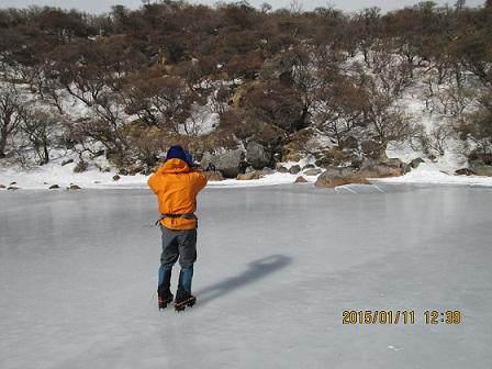 結氷した御池