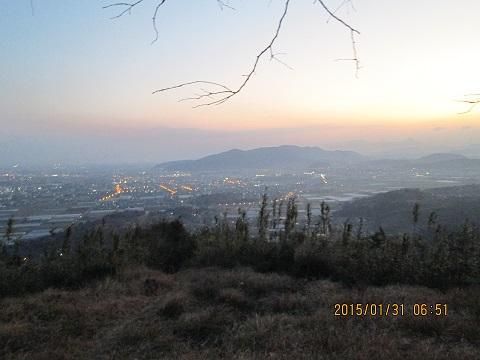 白山からの夜景