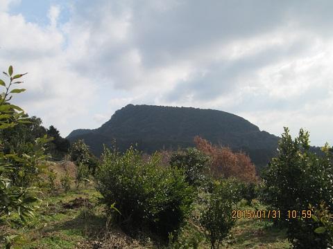 大岳を遠望