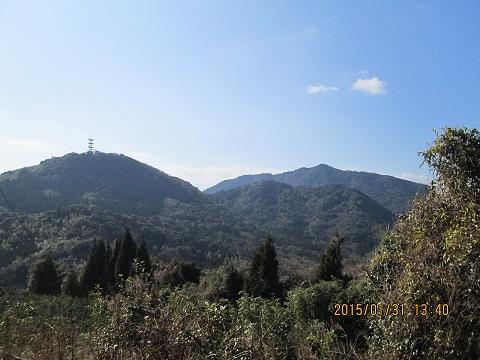 三角岳近くなりました。