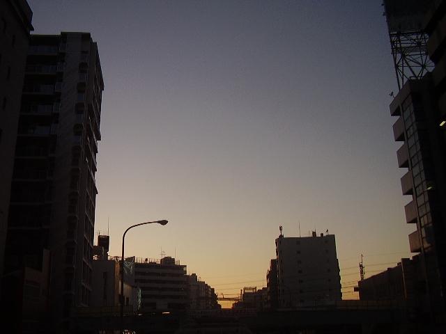 近づく夜のとばり