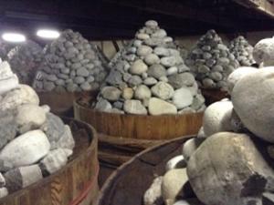 豆味噌の石積み