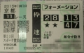 2015京都金杯馬券