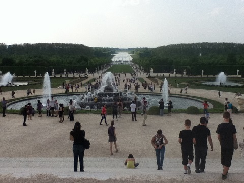 パリ ベルサイユ宮殿庭園1