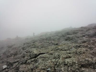 韓国岳山頂霧