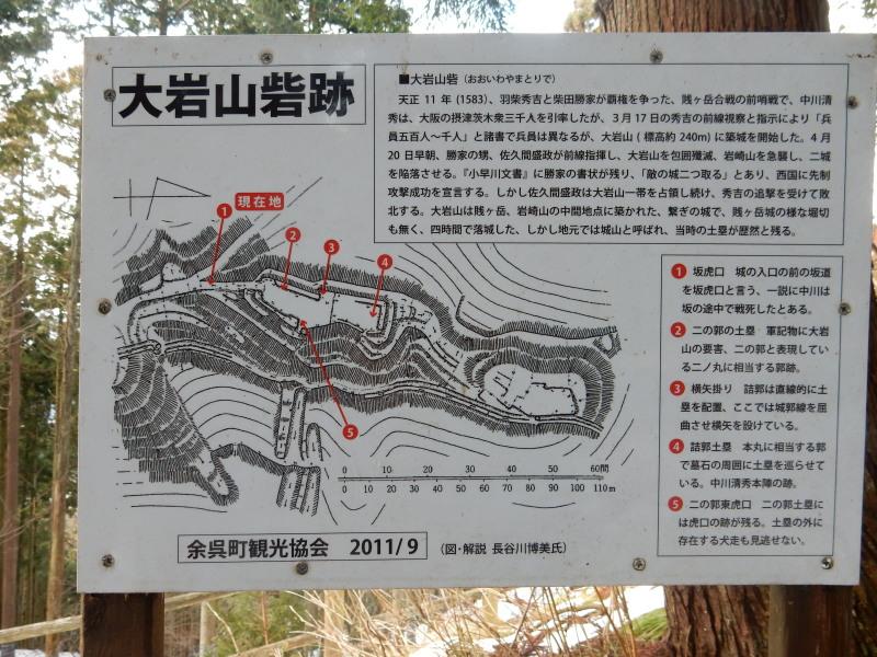 大岩山砦縄張図
