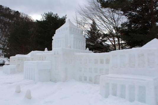 富士山雪まつり オブジェ 議事堂
