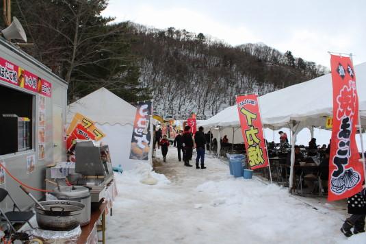 富士山雪まつり フードコート
